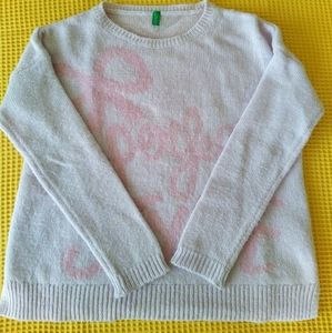 UNITED COLORS OF BENETTON girl's Wool Sweater